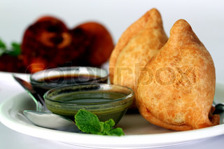 Popular indian deep fried snack called samosa