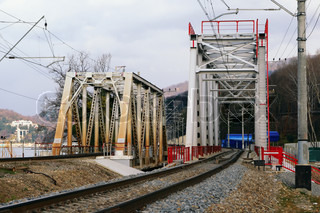 Two railway truss