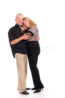 old couple hugging