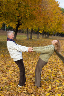 old couple hanging
