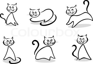 Cats symbols and emblems