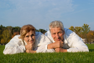old family on grass