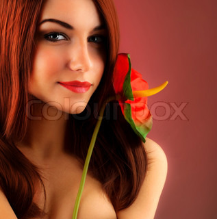 Sexy red hair woman