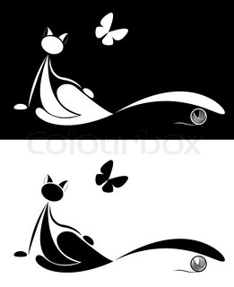 set ofcat silhouette for your design