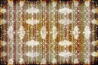 vector seamless floral wallpaper on striped background,crumpled burning paper texture
