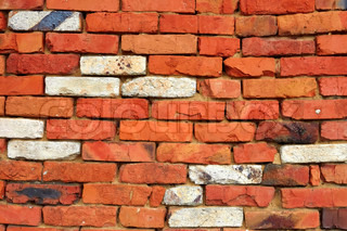 Red and white brick wall