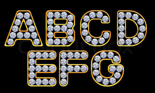 Z Alphabet In Diamond letters incrusted with diamonds | Stock Photo | Colourbox