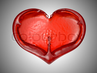 Love and Romance - Red fluid heart shape