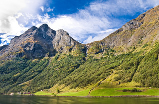 Fjords in Norway and Scandinavian nature