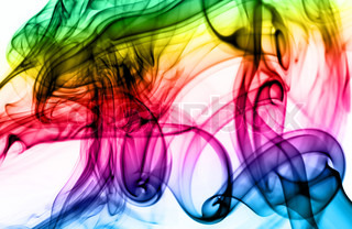 Magic colorful Abstract fume pattern