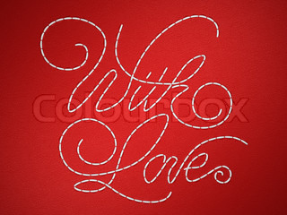 With love stitched embroidery words