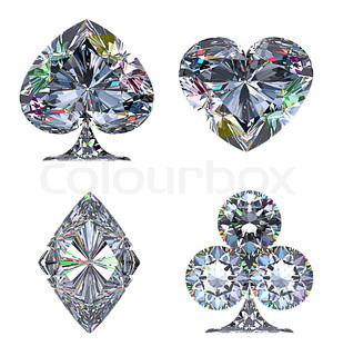 Colorful Diamond Shaped Card Suits Stock Photo Colourbox