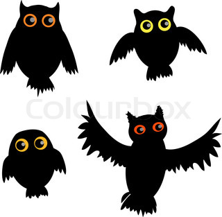 Cartoon Owl siluet vector version