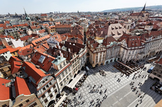 prague, old town square, cityscape