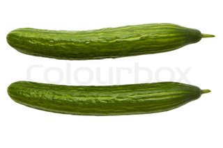 Two long cucumbers