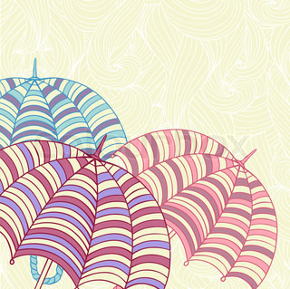 Design ellement with cute umbrellas Vector illustration