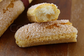 Traditional Italian cookies  savoiardi