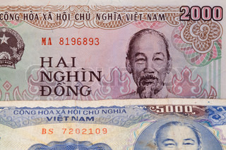 Banknotes - Dong bills of Vietnam