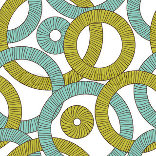 Seamless texture of abstract circles Vector background
