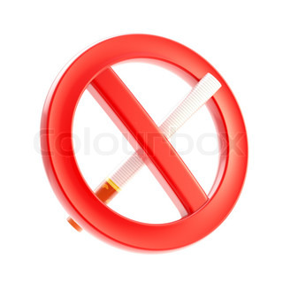 Smoking is not allowed forbidden sign glossy icon isolated on white