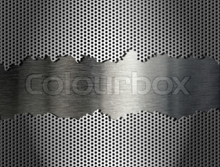 silver metal grate background