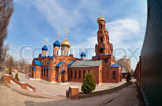 Russian orthodox church in Samara, Russia