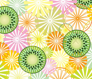 vector abstract fruit background