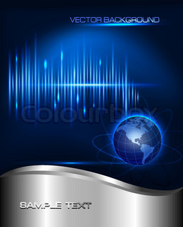 Abstract technology background with globe  Vector illustration