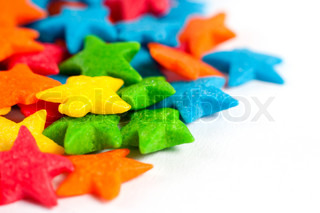 star colorful candies