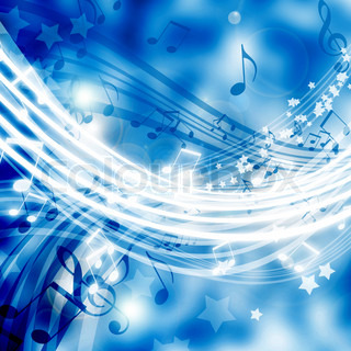 abstract background with musical elements