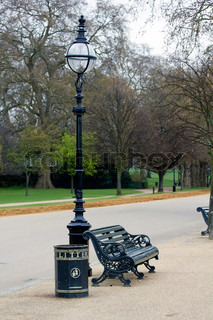 Bench in Hyde Park, London