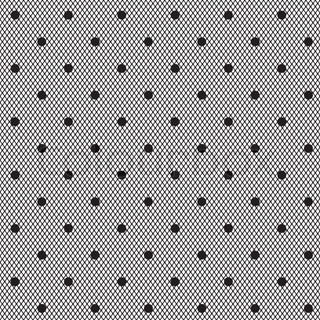 black dotted veil seamless pattern on white background