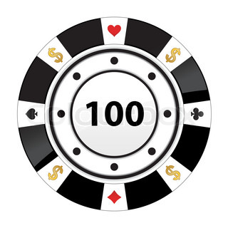 Special black poker chip | Vector | Colourbox