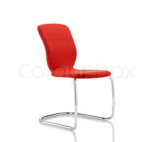 Red Stylish Chair isolated on white
