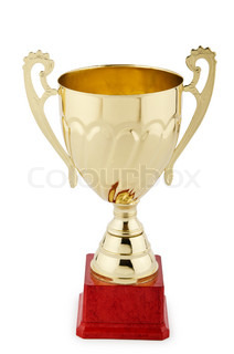 Winners cup isolated on the white