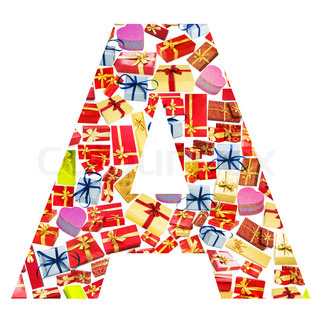 A Letter - Alphabet made of giftboxes