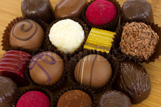 assortment of chocolate sweets