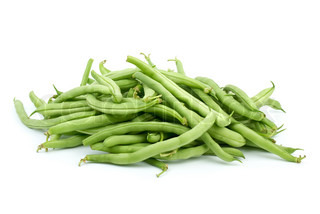 Pile of green bean pods