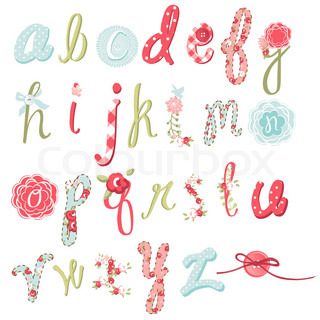 Unique vector flower font Amazing hand drawn Alphabet