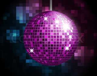 Party Atmosphere with disco globe