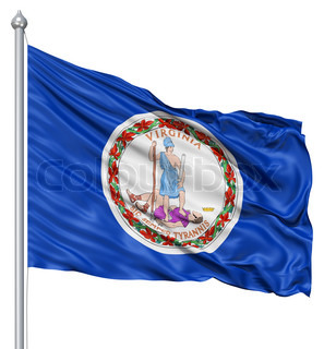 Waving Flag of USA state Virginia