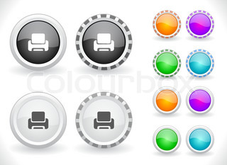 Cool buttons for web Vector