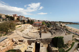 Remains of the Roman Amphitheater in Tarragona, Spain