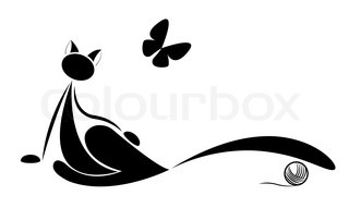 cat silhouette for your design
