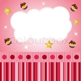 pink scrap background with cloud