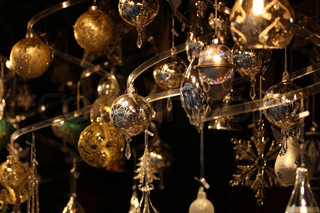 christmas market details Christmass tree decorations