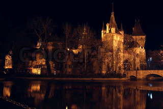castle at the night time, Budapest