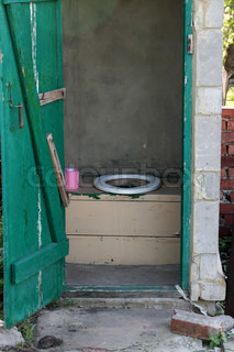 old outdoors toilet