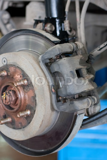 car brake gear under the car suspension