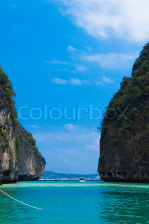 Tranquil Bay Sea Rocks